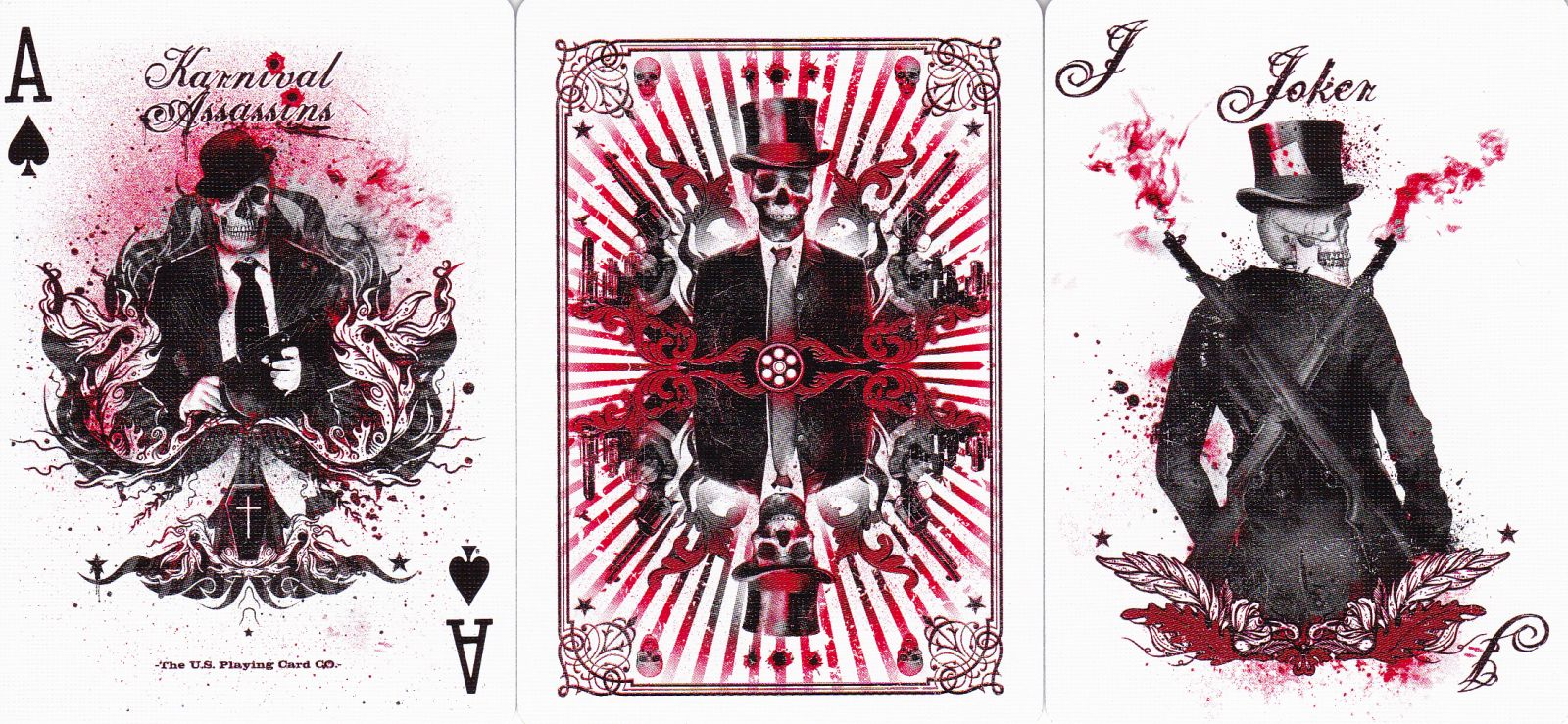 1  Karnival Death Heads playing cards by Big Blind Media